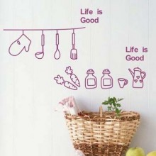 Kitchen Classify Label Life is Good Removable Wall Sticker Art Decals Mural DIY Wallpaper for Room Decal