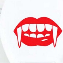Girl Vampire Lips Removable Wall Sticker Art Decals Mural DIY Wallpaper for Room Decal