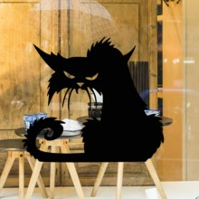 Black cat Removable Wall Sticker Art Decals Mural DIY Wallpaper for Room Decal