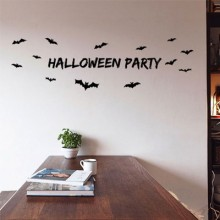 Bats party Removable Wall Sticker Art Decals Mural DIY Wallpaper for Room Decal