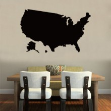 America Map the USA Map Removable Wall Sticker Art Decals Mural DIY Wallpaper for Room Decal