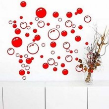 Beauty Soap Bubbles Removable Wall Sticker Art Decals Mural DIY Wallpaper for Room Decal