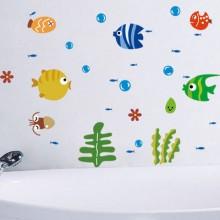 Bubble fish stickers