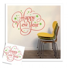 2017 New Year Cloud Wall Stickers