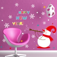 2017 New Year Snow Wall Stickers