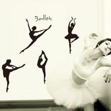Ballet Girl Dancer Removable Wall Sticker Art Decals Mural DIY Wallpaper for Room Decal