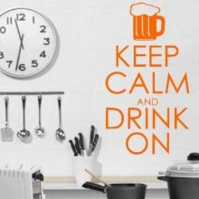 Keep Calm And Drink On Removable Wall Sticker Art Decals Mural DIY Wallpaper for Room Decal