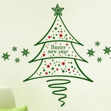 Happy New Year Snowflake Sticker