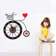 Bicycle clock Removable Wall Sticker Art Decals Mural DIY Wallpaper for Room Decal