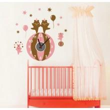 Bear clock Removable Wall Sticker Art Decals Mural DIY Wallpaper for Room Decal