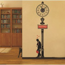 Romantic street clock