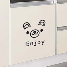 Lovely Bear Expression Emoji Removable Wall Sticker Art Decals Mural DIY Wallpaper for Room Decal