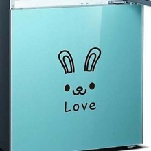 Lovely Rabbit Expression Emoji Removable Wall Sticker Art Decals Mural DIY Wallpaper for Room Decal