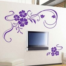 Beautiful Vine Flower Pattern Removable Wall Sticker Art Decals Mural DIY Wallpaper for Room Decal