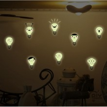 Cute little bulb Removable Wall Sticker Art Decals Mural DIY Wallpaper for Room Decal
