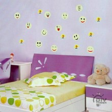 Cartoon smiley Removable Wall Sticker Art Decals Mural DIY Wallpaper for Room Decal