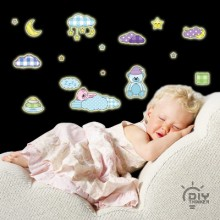 Cute Sleeping Bear Removable Wall Sticker Art Decals Mural DIY Wallpaper for Room Decal