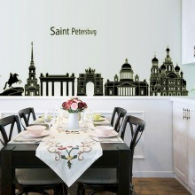 City Scenery Removable Wall Sticker Art Decals Mural DIY Wallpaper for Room Decal