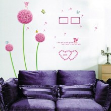 Dandelion Removable Wall Sticker Art Decals Mural DIY Wallpaper for Room Decal