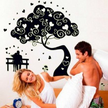Couple Tree Removable Wall Sticker Art Decals Mural DIY Wallpaper for Room Decal