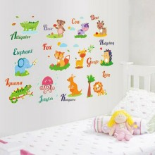 Cartoon Animals Removable Wall Sticker Art Decals Mural DIY Wallpaper for Room Decal