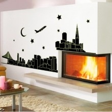 City Light Removable Wall Sticker Art Decals Mural DIY Wallpaper for Room Decal
