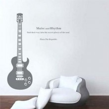 A Literary Guitar Music Lover Musical Instruments Removable Wall Sticker Art Decals Mural DIY Wallpaper for Room Decal