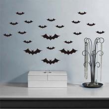 Halloween Bats Happy Halloween  Removable Wall Sticker Art Decals Mural DIY Wallpaper for Room Decal