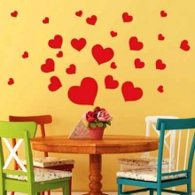 Funny Heart Suit DIY Love Shape Removable Wall Sticker Art Decals Mural DIY Wallpaper for Room Decal