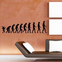 Ape To Man Evolution Removable Wall Sticker Art Decals Mural DIY Wallpaper for Room Decal