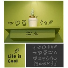 fashion kitchen utensils Removable Wall Sticker Art Decals Mural DIY Wallpaper for Room Decal