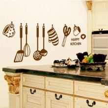 Cooking Utensil Removable Wall Sticker Art Decals Mural DIY Wallpaper for Room Decal