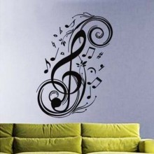 Love Heart Music Notes Pattern Treble Clef Removable Wall Sticker Art Decals Mural DIY Wallpaper for Room Decal
