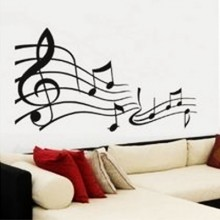 Music Notes Staff Musical Lover Removable Wall Sticker Art Decals Mural DIY Wallpaper for Room Decal