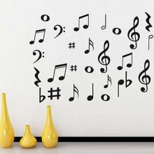 Music Notes Musical Lover Removable Wall Sticker Art Decals Mural DIY Wallpaper for Room Decal