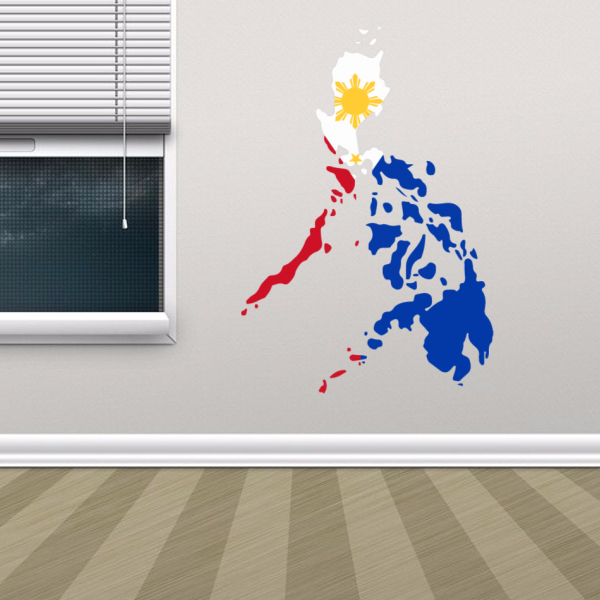 Philippines flag map decal wall sticker diythinker philippines flag map decal wall sticker gumiabroncs Gallery