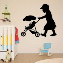 Cart Wall Sticker Removable Wall Sticker Art Decals Mural DIY Wallpaper for Room Decal