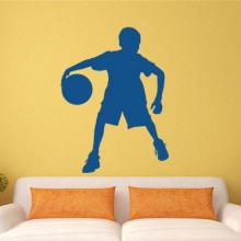 Basketball boy sticker Removable Wall Sticker Art Decals Mural DIY Wallpaper for Room Decal