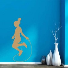 Beauty skipping wall stickers Removable Wall Sticker Art Decals Mural DIY Wallpaper for Room Decal