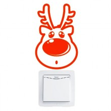 Christmas Cute Reindeer Removable Wall Sticker Art Decals Mural DIY Wallpaper for Room Decal