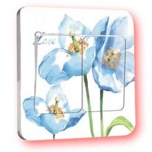 Blue flower switch