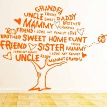 Beautiful Family Tree Removable Wall Sticker Art Decals Mural DIY Wallpaper for Room Decal