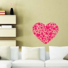 Funny Heart Suit Pop Art Love Shape Removable Wall Sticker Art Decals Mural DIY Wallpaper for Room Decal