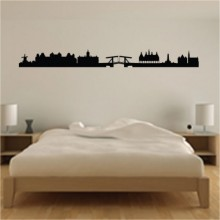 Amsterdam Netherlands Landmark Silhouette Removable Wall Sticker Art Decals Mural DIY Wallpaper for Room Deca