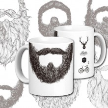 Beards and mustache marker mug
