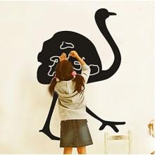 Black Ostrich Chalkboard Decal Sticker Home Decoration
