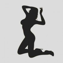Attractive Sexy Lady Naked Woman Silhouette Removable Wall Sticker Art Decals Clock Mural DIY Wallpaper for Room Decal
