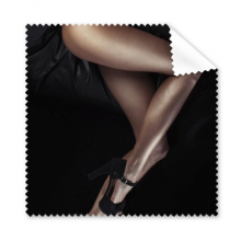 Black High-heeled Shoes Long Legs Sexy Girl Gal Lady Glasses Cloth Cleaning Cloth Gift Phone Screen Cleaner 5pcs
