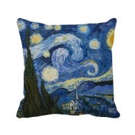Starry sky Vincent van Gogh Oil Painting Square Throw Pillow Insert Cushion Cover Home Sofa Decor Gift
