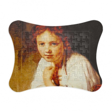 Character Oil Painting Girl Desk Art Paper Card Puzzle Frame Jigsaw Game Home Decoration Gift